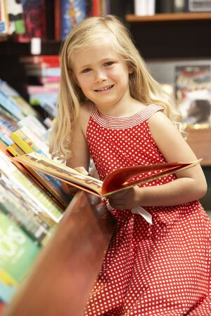 bookshop: Young girl in bookshop