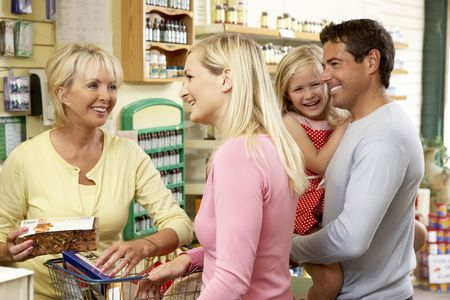 Female sales assistant in health food store Stock Photo - 5633646
