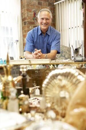 Male antique shop proprietor Stock Photo - 5633614