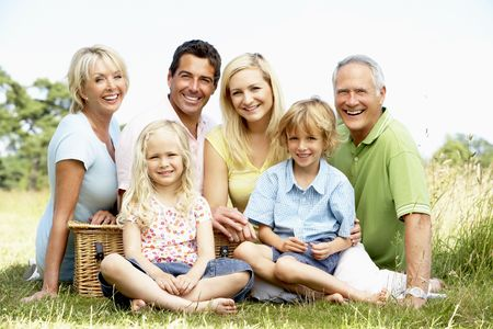 Family having picnic in countryside Stock Photo - 5633565