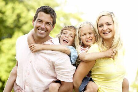 Family having fun in countryside Stock Photo - 5633454