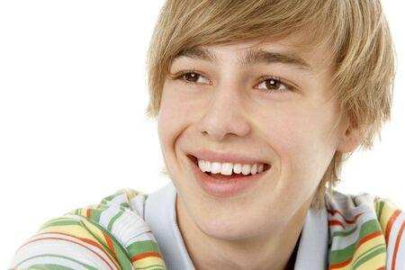 Studio Portrait Of Smiling Teenage Boy photo
