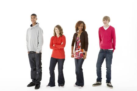 Group Of Four Teenagers In Studio Stock Photo - 6127583
