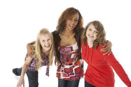 Portrait Of Three Teenage Girls photo