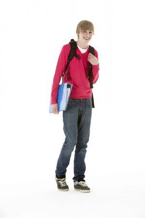 Full Length Studio Portrait Of Male Teenage Student photo