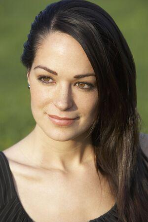 Portrait Of Woman In Summer Field photo
