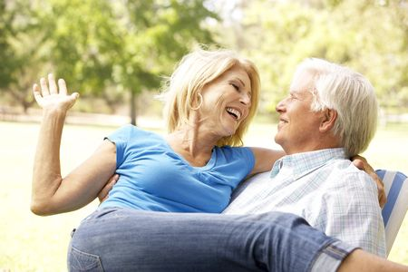 Portrait Of Senior Couple Enjoying Day In Park Stock Photo - 6142764