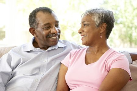 Senior Couple Relaxing At Home Together Stock Photo - 6143008
