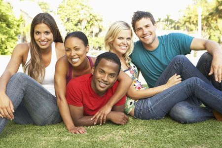 Group Of Young Friends Having Fun Together photo