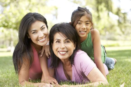Grandmother With Daughter And Granddaughter In Park Stock Photo - 6135540
