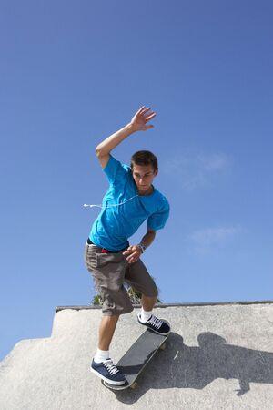 Teenage Boy In Skateboard Park Stock Photo - 6371906