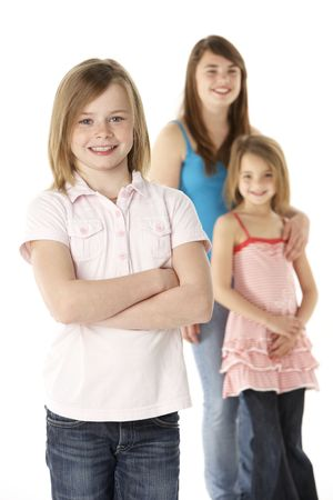 Group Of Girls Together In Studio Stock Photo - 6454235