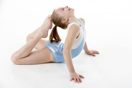 Studio Portrait Of Young Female Gymnast Stock Photo - 6453658