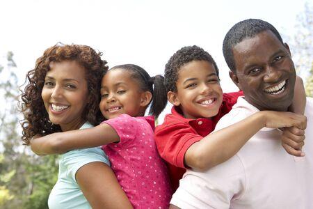 Portrait of Happy Family In Park Stock Photo - 6456559