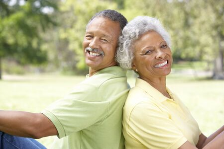 Portrait Of Senior Couple In Park Stock Photo - 6456594