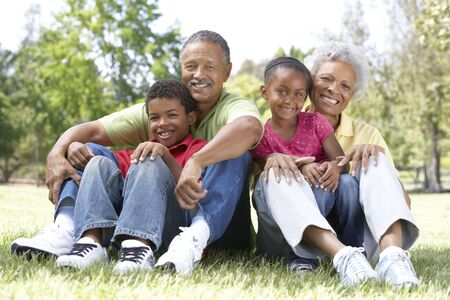 Grandparents In Park With Grandchildren Stock Photo - 6456581