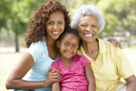 Grandmother With Daughter And Granddaughter In Park Stock Photo - 6456566