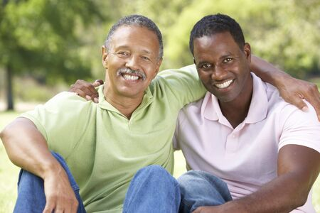 Father With Adult Son In Park Stock Photo - 6456525