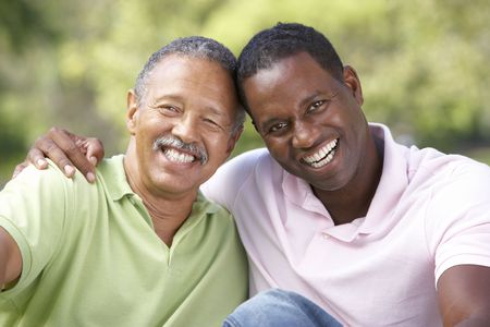 Father With Adult Son In Park Stock Photo - 6456557