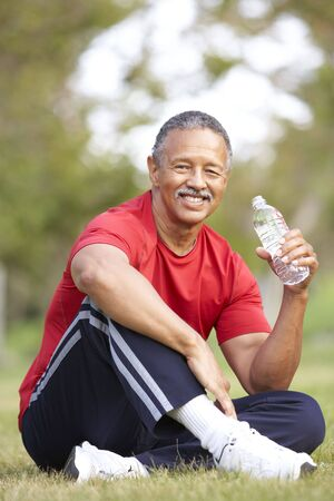 Senior Man Relaxing After Exercise Stock Photo - 6456277