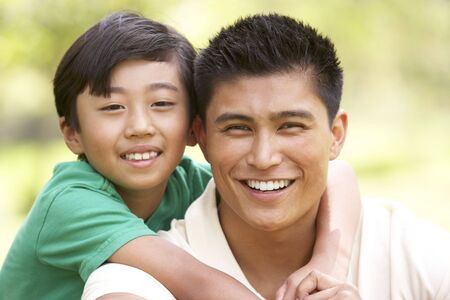 filipino people: Father And Son In Park