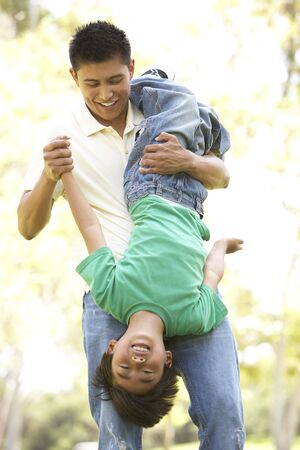 Father With Son In Park photo