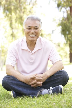 Portrait Of Senior Man In Park Stock Photo - 6456303