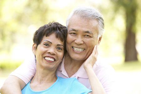 Portrait Of Senior Couple In Park photo