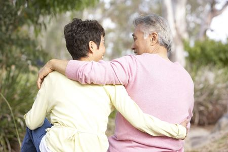 Back View Of Senior Couple In Park Stock Photo - 6456602