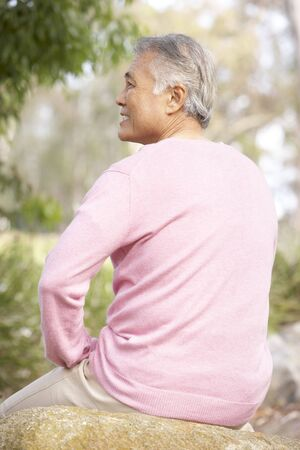Back View Of Senior Man In Park Stock Photo - 6456518