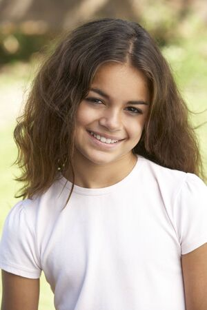 Portrait Of Young Girl In Park Stock Photo - 6454176