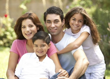hispanic girls: Family Enjoying Day In Park