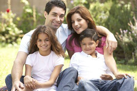 Family Enjoying Day In Park photo