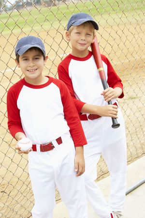 Young Boys Playing Baseball photo
