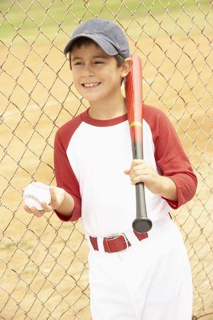 ballplayer: Young Boy Playing Baseball Stock Photo