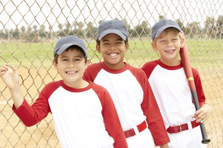 Giovani ragazzi nel Baseball Team
