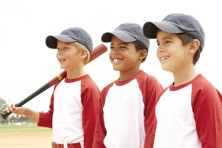 baseball caps: Young Boys In Baseball Team