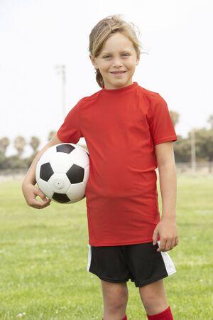 futbol infantil: J�venes Girl In f�tbol