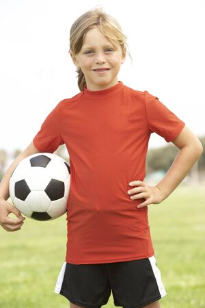 Young Girl In Football Team Stock Photo - 6453868
