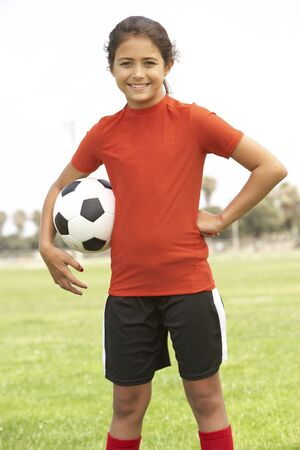 Young Boy In Football Team photo
