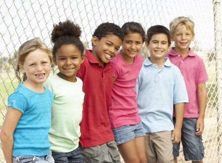 Group Of Children Playing In Park Stock Photo - 6452331