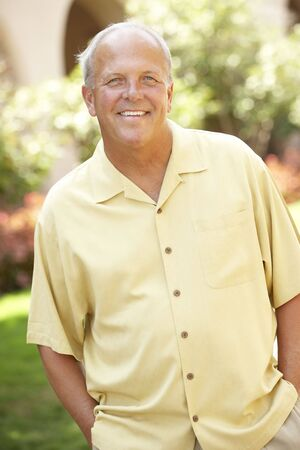 Portrait Of Senior Man In Park Stock Photo - 6452848
