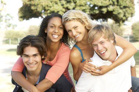 19 year old boy: Group Of Teenagers Having Fun