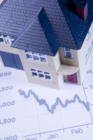 Concept Showing Decline In Housing Market Stock Photo - 6456692