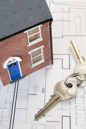 House With Keys And Plans photo