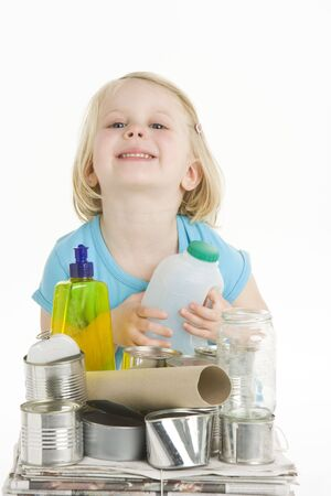Child Helping With Recycling Stock Photo - 6456606