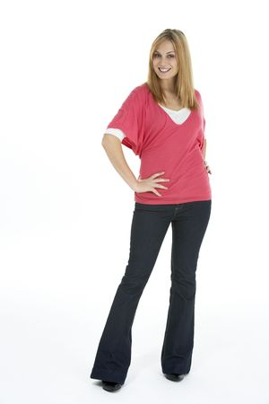 Full Length Portrait Of Young Woman photo