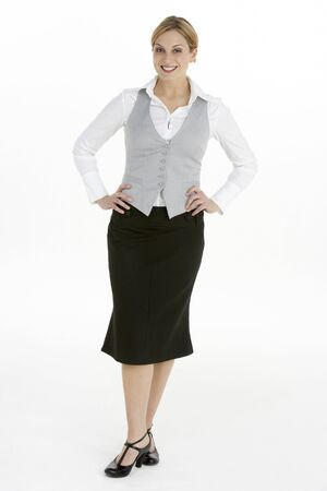 Full Length View of Female Business Woman Stock Photo - 6453570