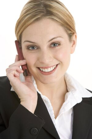 Young Businesswoman Using Mobile Phone photo