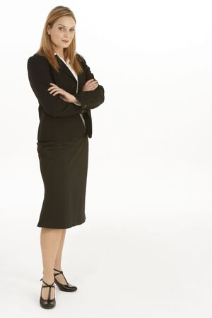 Full Length View Of Businesswoman photo